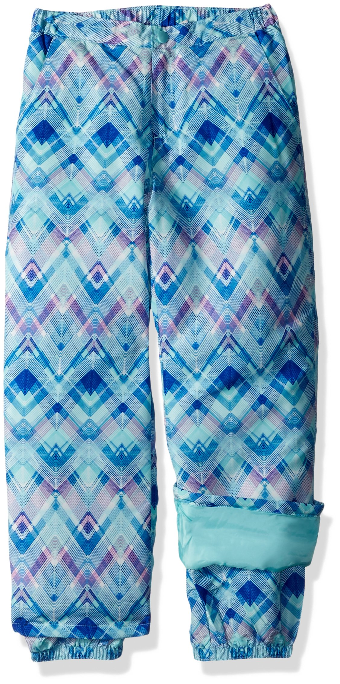 The Children's Place Big Girls' Printed Snow Pant, Mellow Aqua, 4