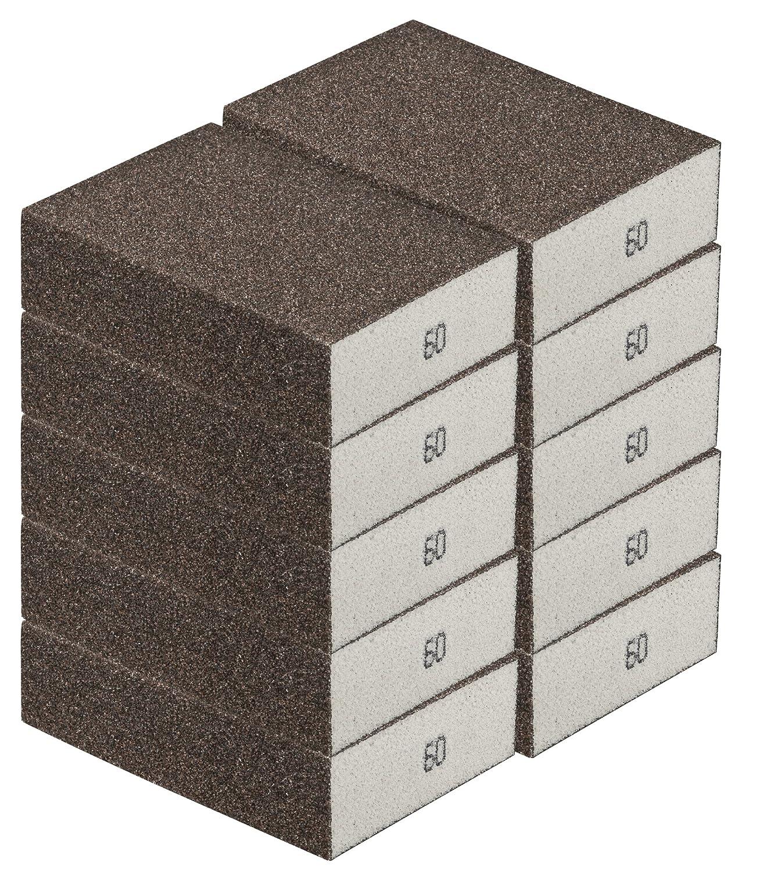 ponceuse manuelle pour de nombreux mat/ériaux I de qualit/é d/élimination Bloc de pon/çage /Éponge de pon/çage Lot de 10/grossi/ère bloc /à poncer pon/çage grain 60/I DIY robustes