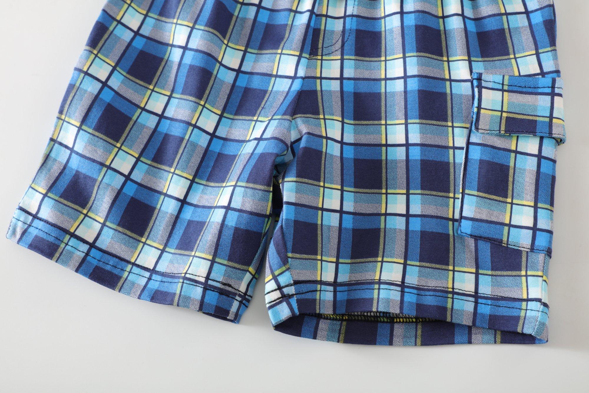 Little Bitty Little Boy Short Set Summer Cotton Clothing Set Essential Shorts Set by Little Bitty (Image #7)