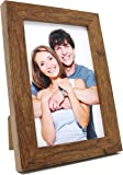 Clay Roberts Photo Frame, 6 x 4, Standard Photograph Size, Brown, Freestanding and Wall Mountable, 6x4 Picture Frame