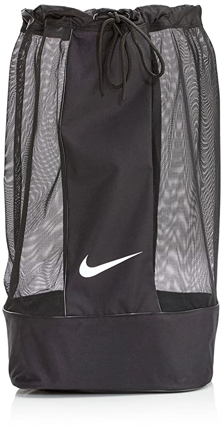 28b72155a2 Image Unavailable. Image not available for. Color  Nike Unisex Nike Club  Team Swoosh Ball Bag  BLACK  ...