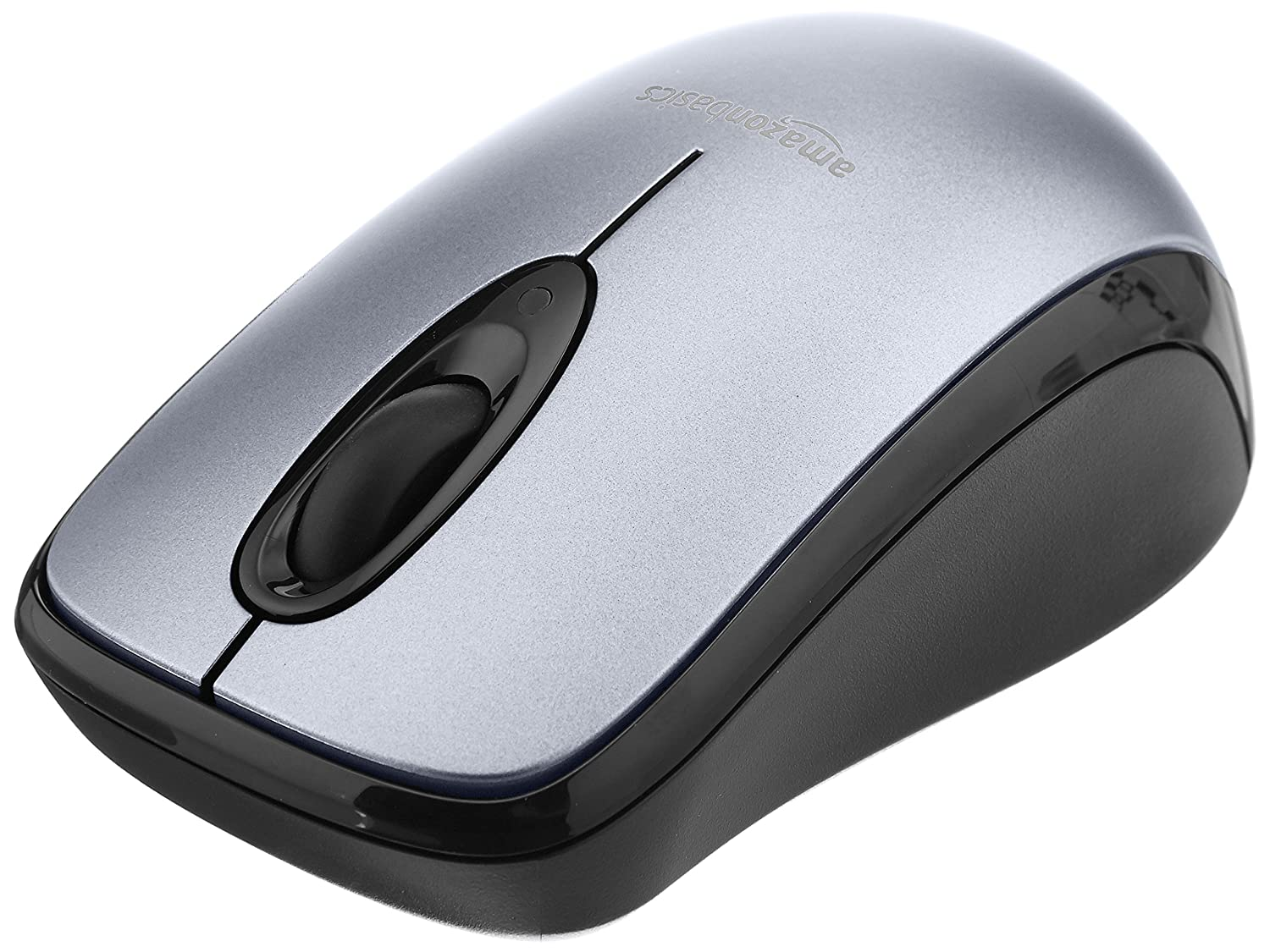 a08923792d0 Amazon.com: AmazonBasics Wireless Computer Mouse with Nano Receiver - Silver:  Computers & Accessories