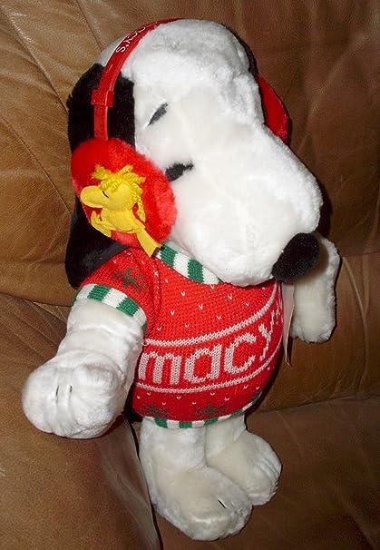 Amazon Com Peanuts Snoopy 20 Plush W Sweater Ear Muffs 1980 S