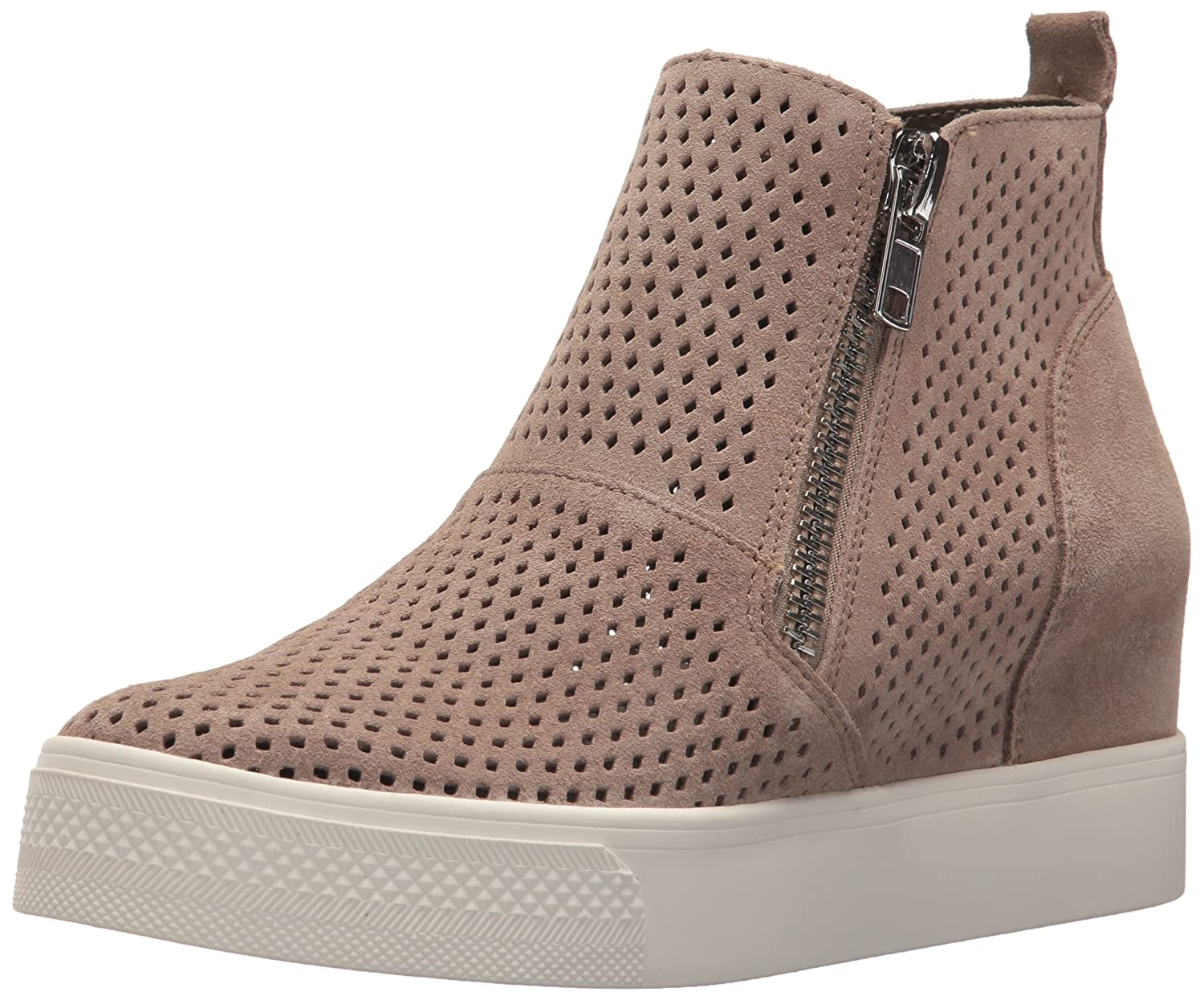 Steve Madden Women's Wedgie-P Sneaker B077H1PNVY 10 B(M) US|Taupe Suede