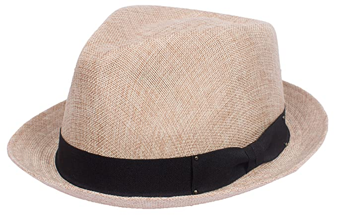 dc2f6b457cba4 DRY77 Porkpie Pork Pie Fedora Hat Trilby Cuban Cap Linen Cotton Up Short  Brim