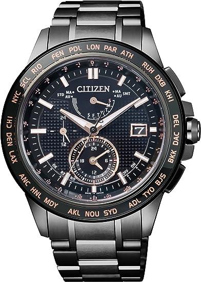 [シチズン] 腕時計 アテッサ エコ・ドライブ 電波時計 ハイグレードペアモデル AT9045-58E ブラック