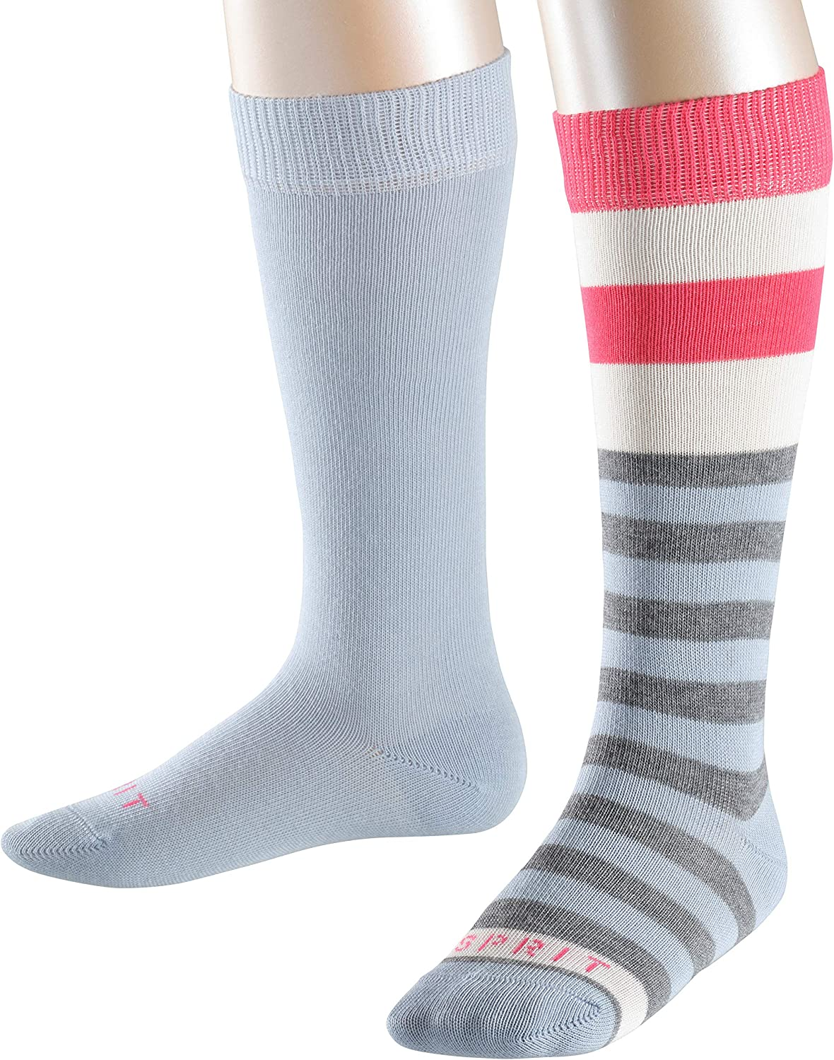 ideal for casual looks Sizes: 2 to 16 Years /Ι UK 6-8 /Ι EU 23-42 Skin friendly Multiple Colours ESPRIT Unisex Kids Block Stripe 2-Pack Knee-High Socks Pack of 2 82/% Cotton
