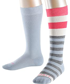 ESPRIT Boys Block Stripe Knee-High Socks, pack of 2