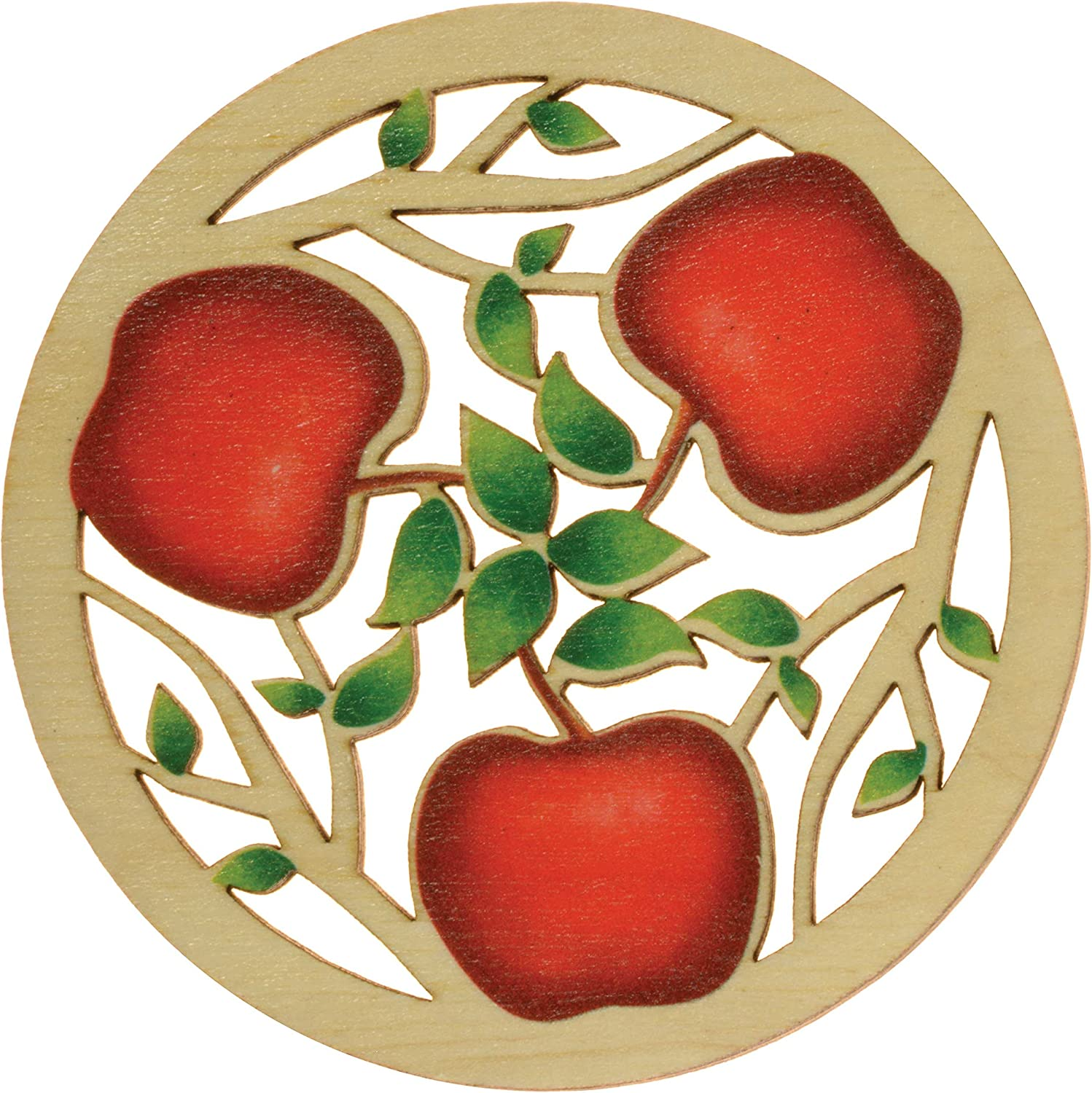 Solace Printed Apples Coaster