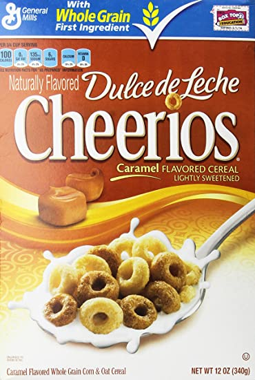 Cheerios Dulce De Leche Caramel Flavored Cereal, 12 Oz. (2 Pack)