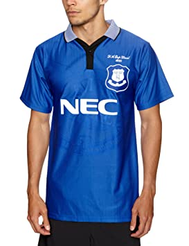 Score Draw Official Retro Everton - Camiseta de fútbol para hombre, tamaño S, color