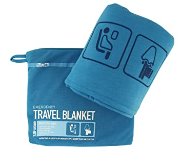 2393bb0e5c Com Flight 001 Travel Blanket Blue One Size. Cabeau Fold N Go ...