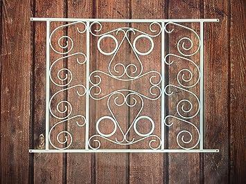 Designer Style Screen Door Grille, Screen Door Pet Guard, (White), By