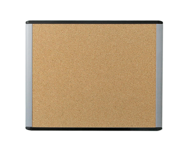 U Brands MOD Cork Bulletin Board, 20 x 16 Inches, Black and Grey Frame LLC 390U00-01