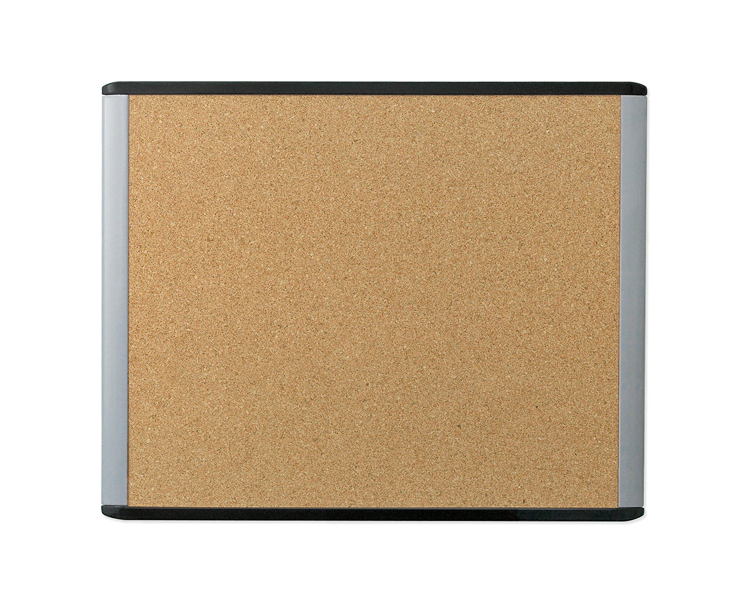 U Brands MOD Cork Bulletin Board, 20 x 16 Inches, Black and Grey Frame