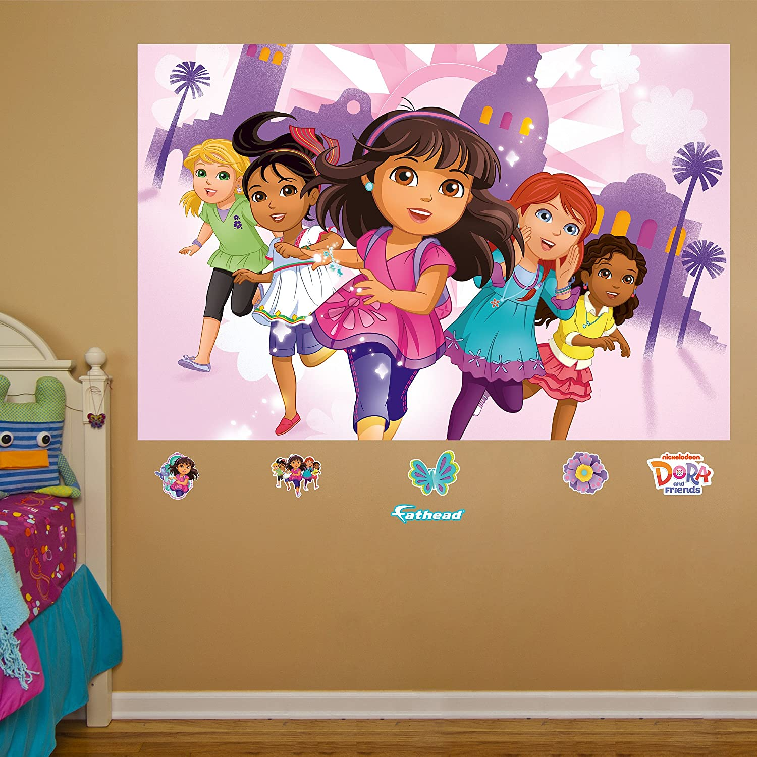 dora the explorer wall decals totally kids totally bedrooms dora friends mural