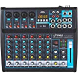 Professional Audio Mixer Sound Board Console Desk System Interface 8 Channel Digital USB Bluetooth MP3 Computer Input 48V Pha