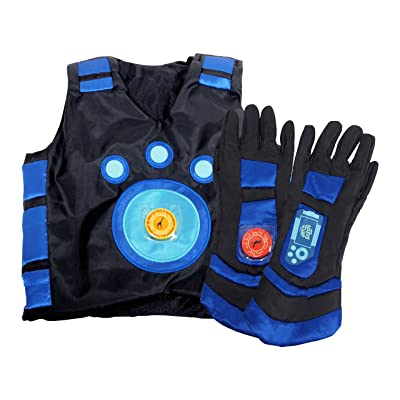 Wild Kratts Creature Power Suit, Martin - Size Large 6-8X - Includes Vest, Gloves and 2 Power Discs - for Dress Up, Pretend Play and Halloween - Ages 3+: Toys & Games