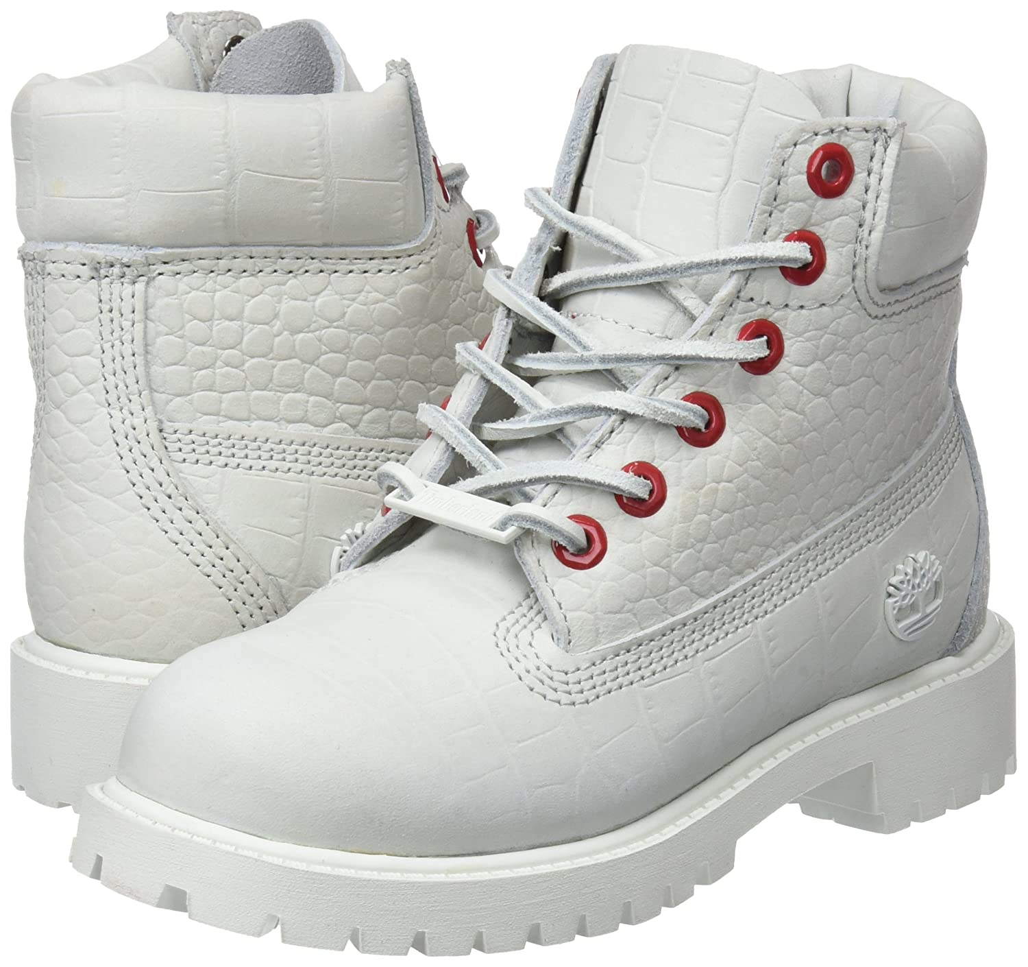 2.5 M US Timberland 6 Inch Youth Little Kids Boots White tb0a1pit