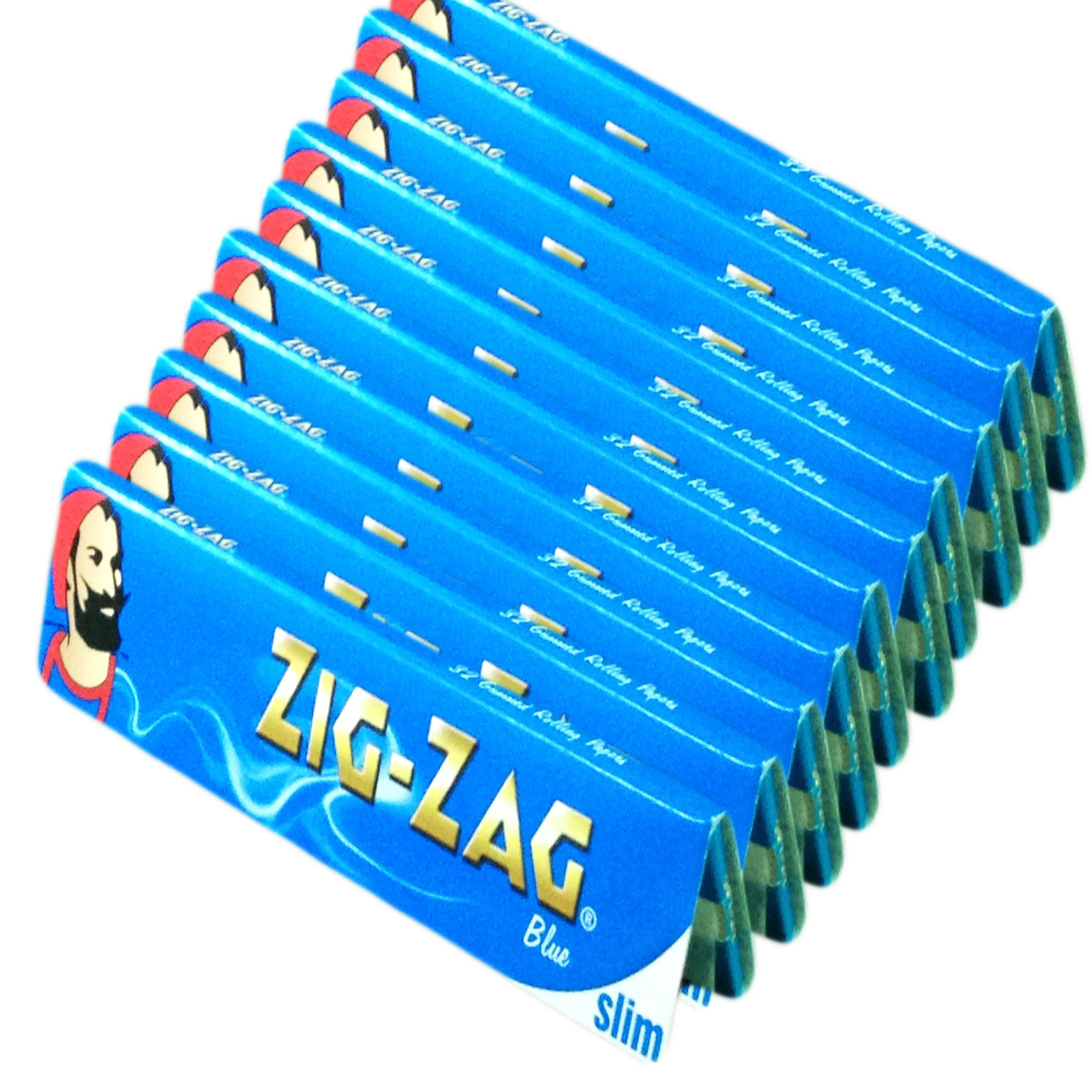 320 ZIG ZAG BLUE KING SIZE SLIM ROLLING PAPERS 10 BOOKS OF 32