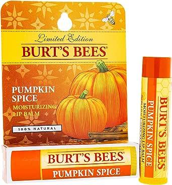 Burts Bees Pumpkin Spice Moisturising Lip Balm for Unisex, 4.25g