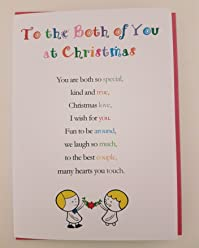 To the Both of You at Christmas - Cute Christmas Luxury Greetings Cards by Clarabelle Cards 5 x 7 inches