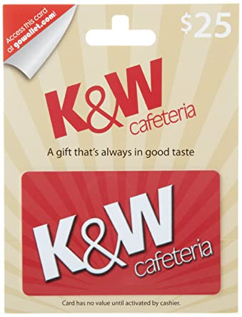 Amazon Com K W Cafeteria Gift Card 25 Gift Cards