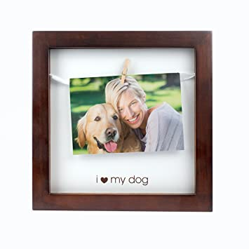 Amazoncom Pearhead Pet I Love My Dog Clothespin Photo Frame
