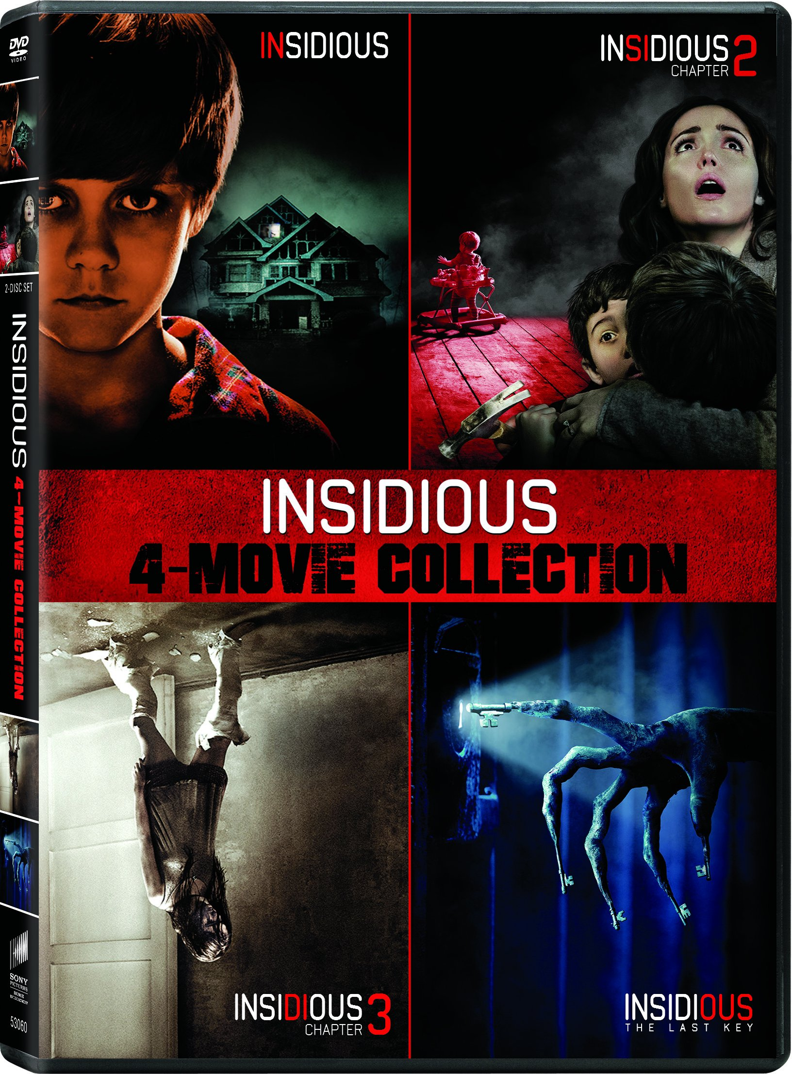 DVD : Insidious/ Insidious: Chapter 2/ Insidious: Chapter 3/ Insidious: Thelast Key (Boxed Set, Widescreen, Dolby, AC-3, Subtitled)