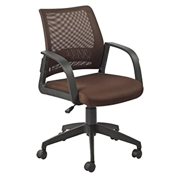 Marvelous Leick Deep Brown Mesh Back Office Chair
