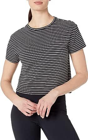 Core 10 Amazon Brand Women's Pima Cotton Cropped Short Sleeve T-Shirt