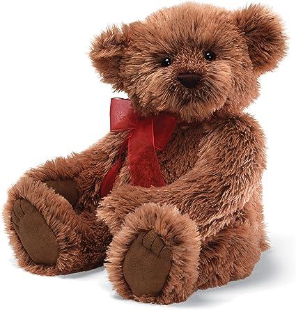 Gund Christmas Vache Bear with Red Ribbon 17 Plush 4029234
