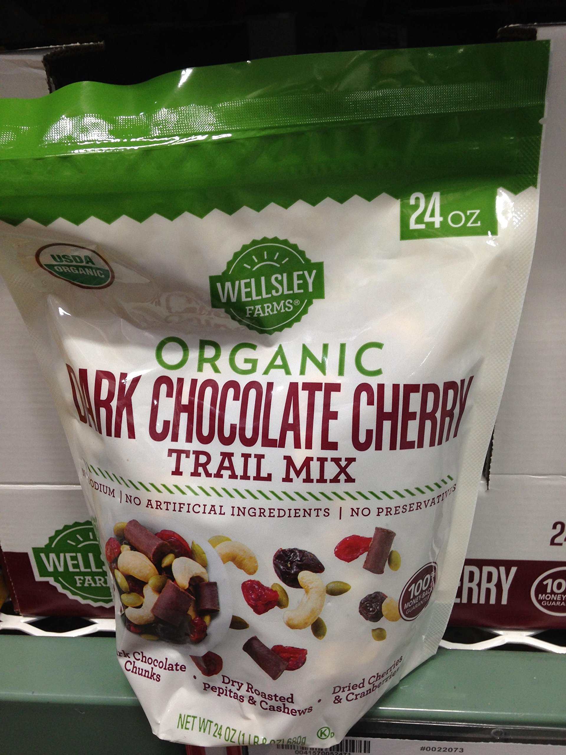 Wellsley Farms Organic Dark Chocolate Cherry Trail Mix, 24 oz. (pack of 6)