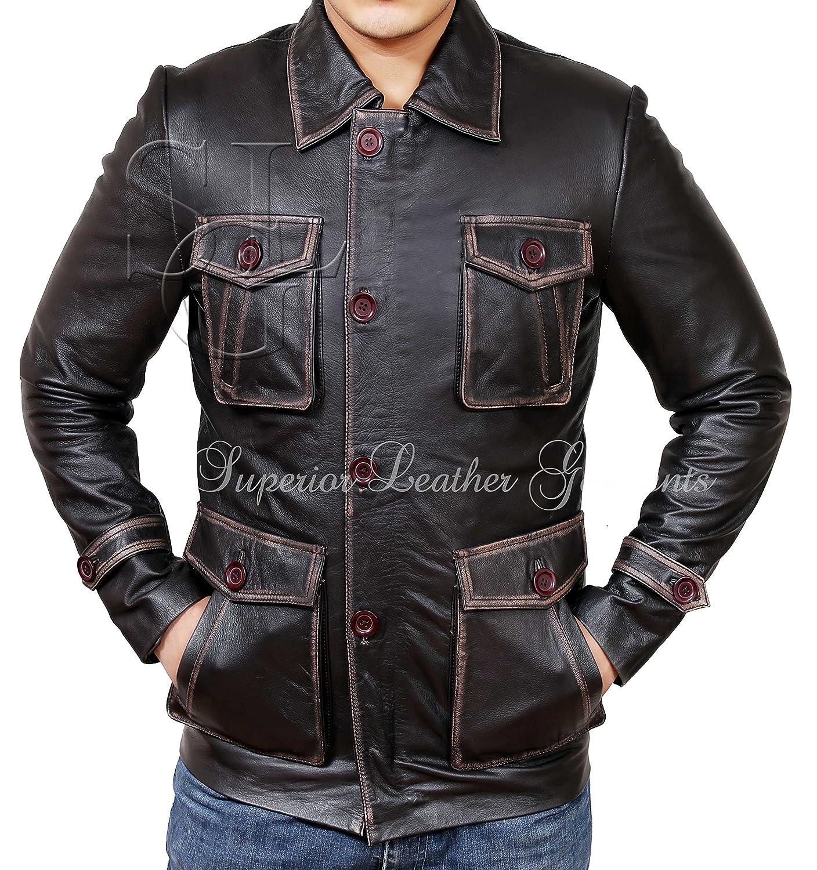 Supernatural Season 7 Brown Distressed Real Leather Jacket