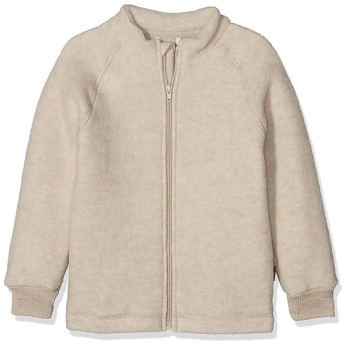 mikk-line Kinder Woll-Jacke, Chaqueta para Niños, Beige (Melange offwhite