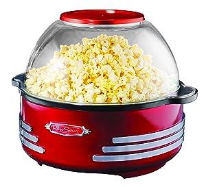 Nostalgia SP300RETRORED 6-Quart Stirring Popcorn Popper