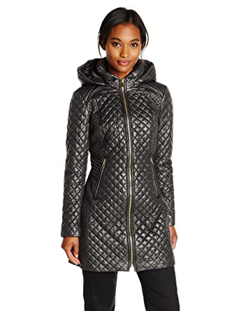 Via Spiga Women's Lightweight Quilted Jacket With Hood at Amazon ... : lightweight quilted coat - Adamdwight.com