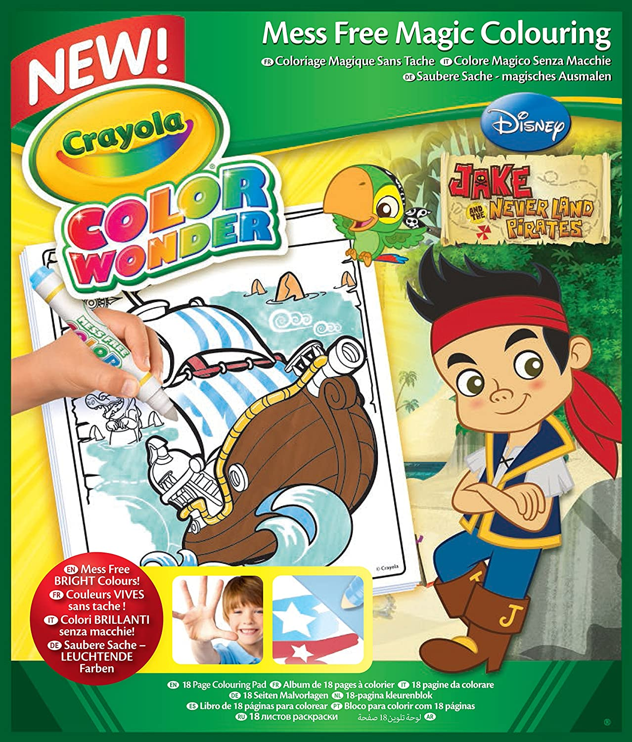 Crayola Color Wonder Coloring Pad 18 Pages Jake And The Neverland Pirates Amazon Home & Kitchen