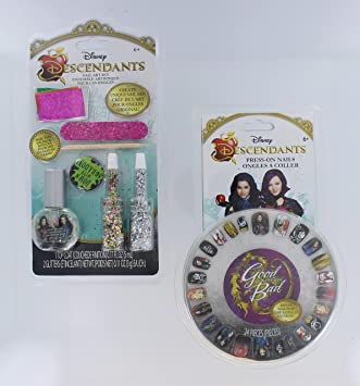 05dc9c9d45b Image Unavailable. Image not available for. Color  Disney Descendants Nail  Art Set with Press-On Nails with Mal