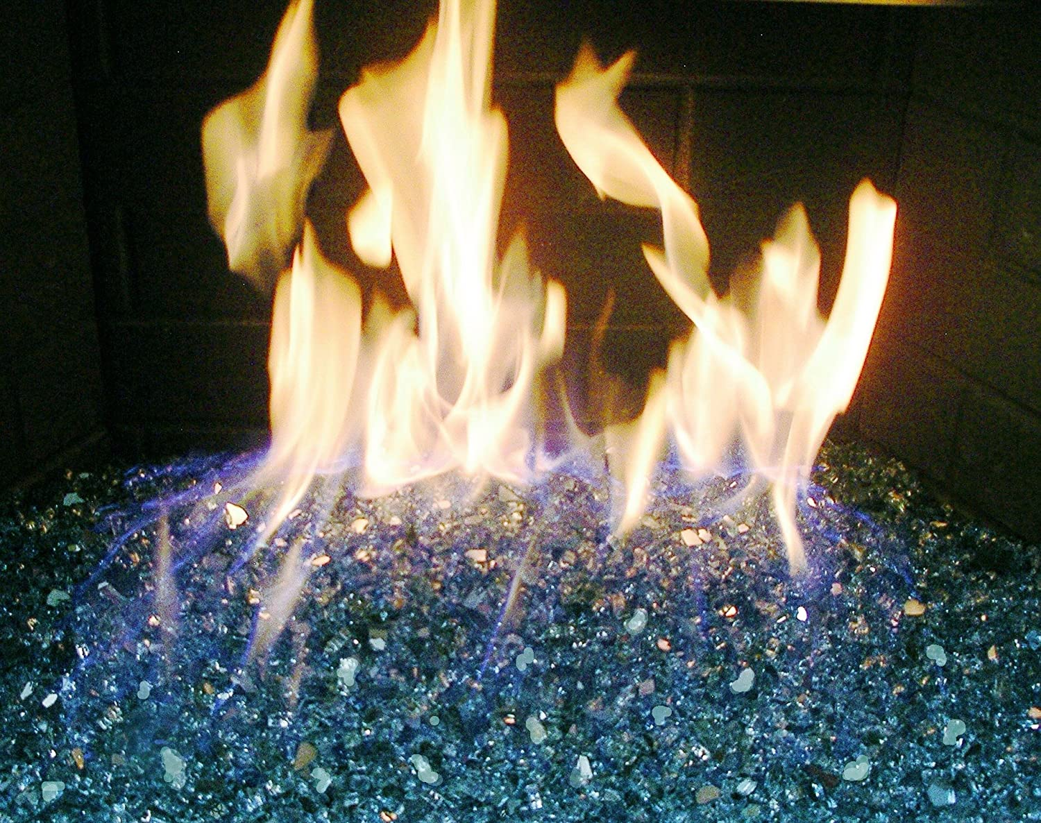 amazon com fire pit fireplace glass 1 4