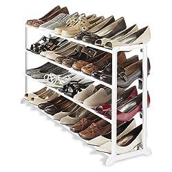 Whitmor 6780-3139-WHT White Resin 20 Pair Shoe Rack