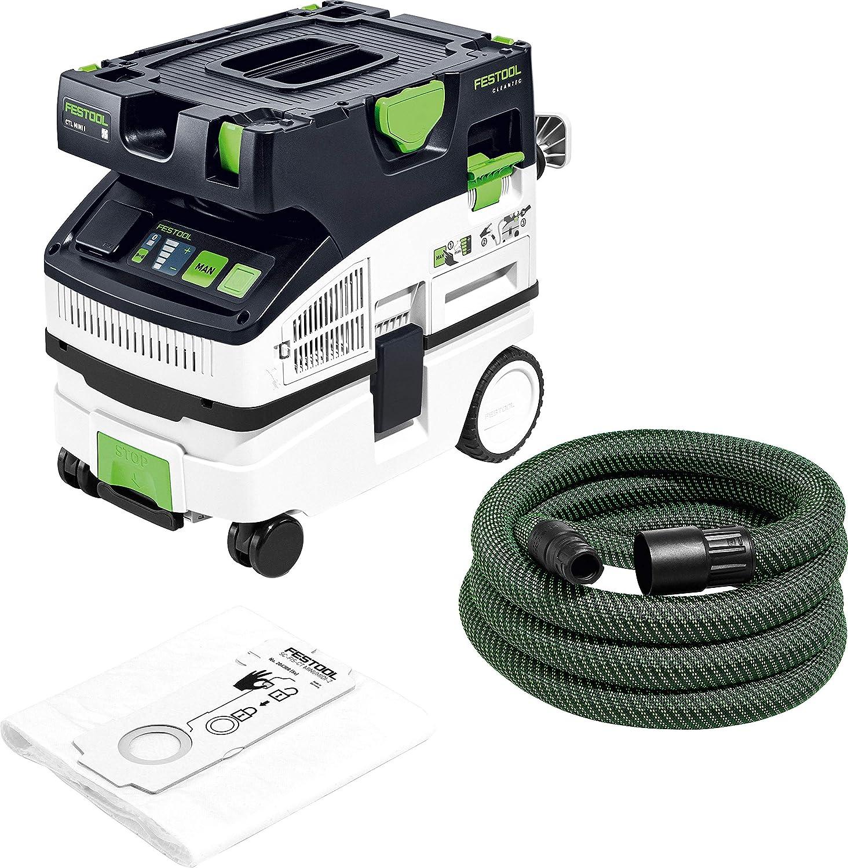 Festool CTL Mini I CLEANTEC-Aspirador 574840, Negro y verde, Size: Amazon.es: Bricolaje y herramientas