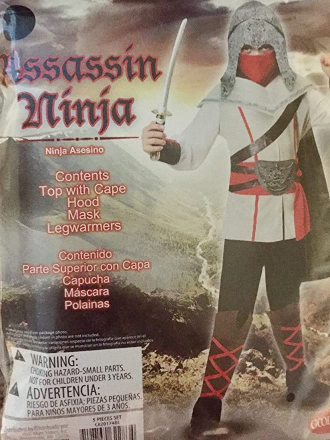 Amazon.com: Assassin Ninja Costume, Boys Large (10-12 ...