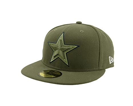 official photos 80d15 d4692 ... real new era 59fifty hat dallas cowboys nfl on field salute to service  fitted cap 694c5