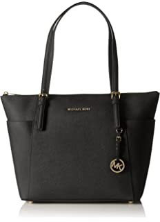 ecd1dfca7203 Michael Kors Women Jet Set Large Top-zip Saffiano Leather Tote Shoulder Bag