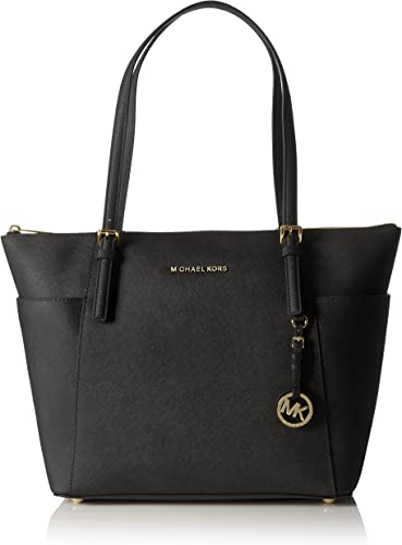Michael Kors Women Jet Set Large Top zip Saffiano Leather Tote Shoulder Bag