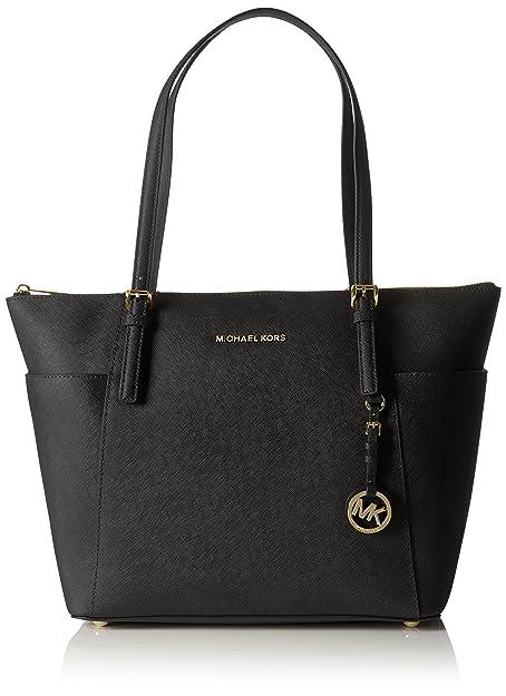 665289674621 Amazon.com: Michael Kors Women Jet Set Large Top-zip Saffiano Leather Tote  Shoulder Bag, Black (Black), 12.7x29.8x31.8 cm (W x H x L): Michael Kors:  Shoes