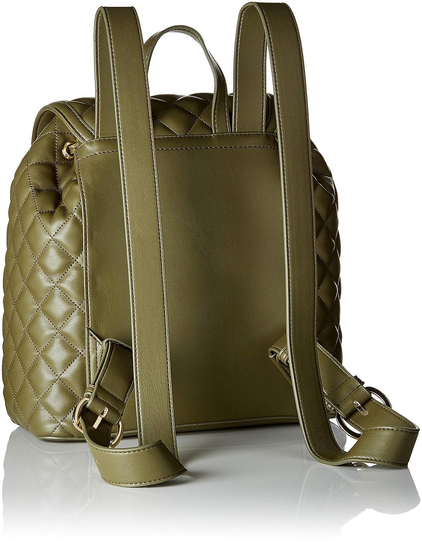Love Moschino dam Borsa Quilted Nappa Pu ryggsäck handväska, 12 x 30 x 41 cm Grön (Verde)