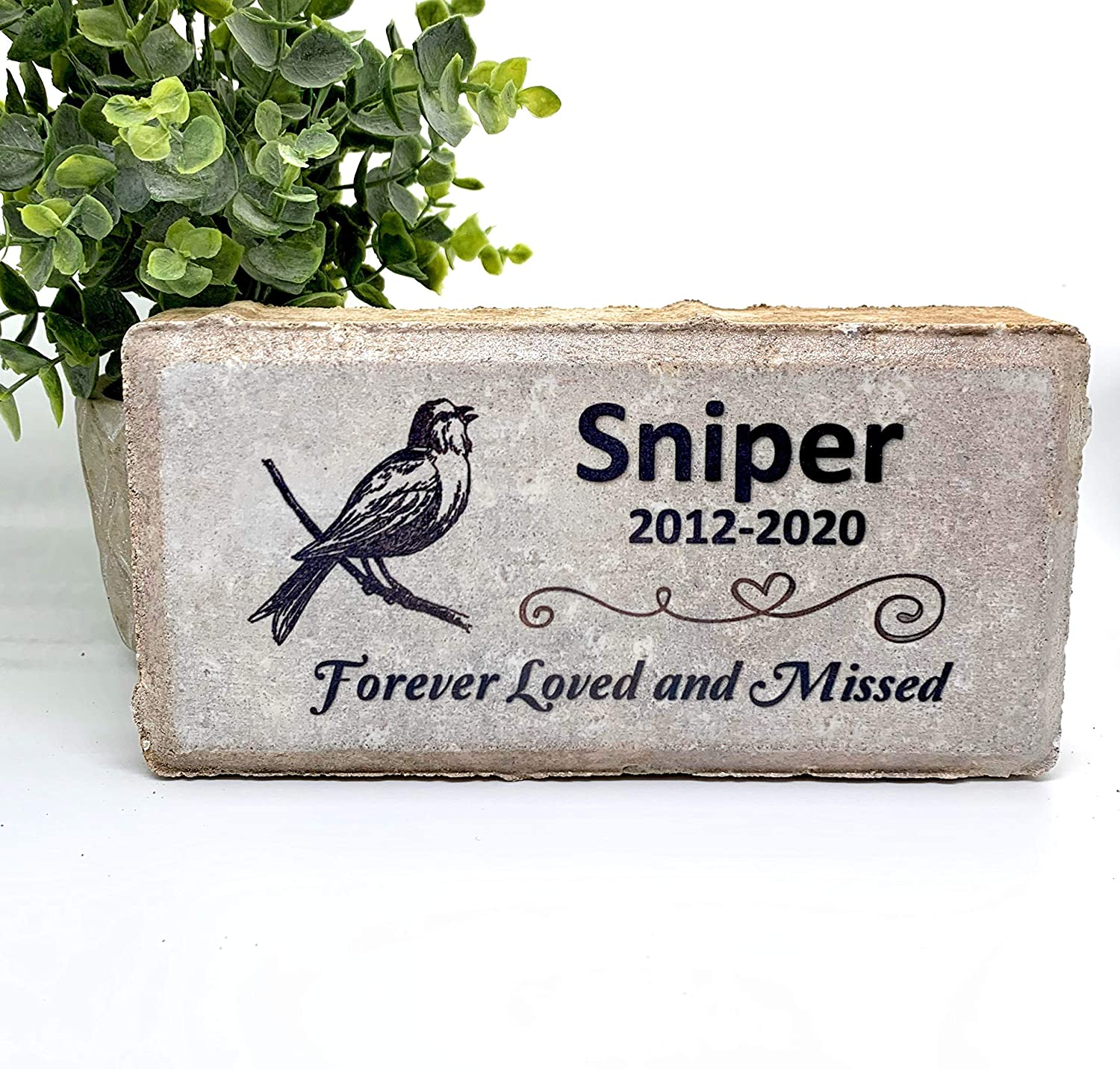 Bird Memorial Stone Rainbow Bridge Memory Stones Pet Burial Marker
