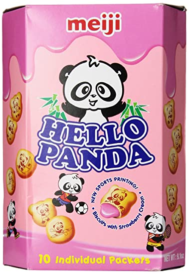 Meiji Hello Panda Cookies L Strawberry   Ounce